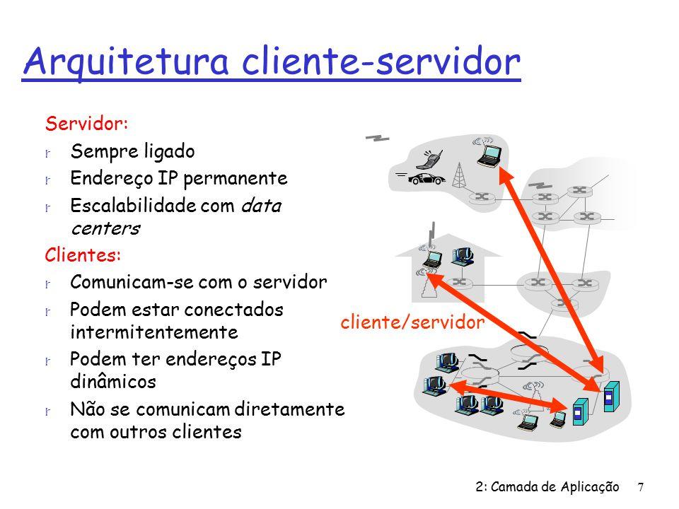 2: Camada de Aplicação108 Exemplo: cliente Java (TCP), cont.
