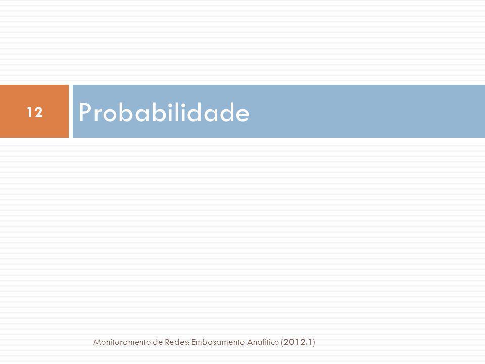Probabilidade 12 Monitoramento de Redes: Embasamento Analítico (2012.1)