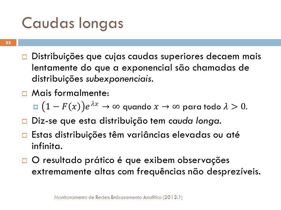 Caudas longas Monitoramento de Redes: Embasamento Analítico (2012.1) 22