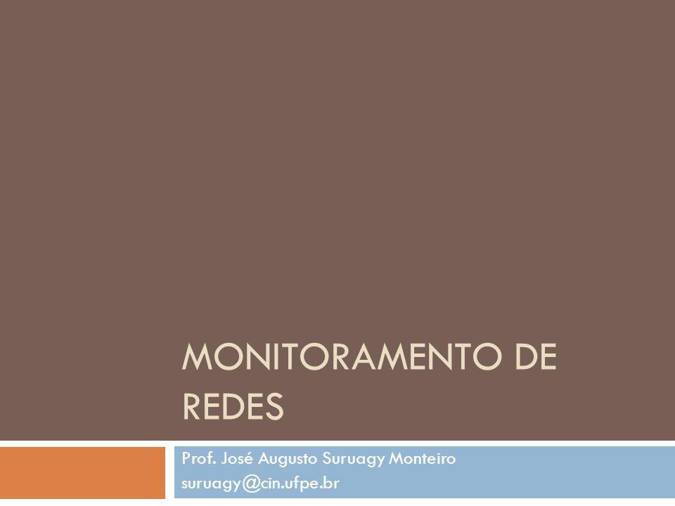 MONITORAMENTO DE REDES Prof. José Augusto Suruagy Monteiro suruagy@cin.ufpe.br