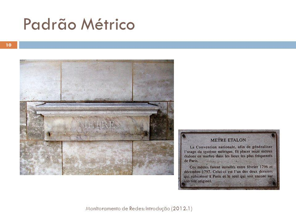 Padrão Métrico Monitoramento de Redes: Introdução (2012.1) 10