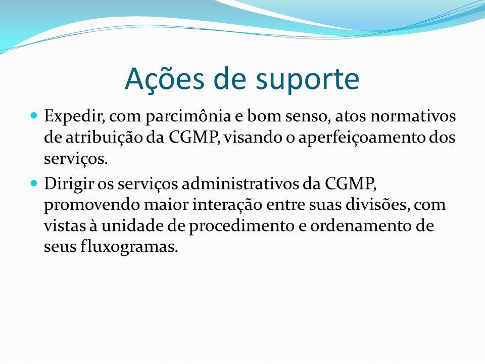 Expedir, com parcimônia e bom senso, atos normativos de atribuição da CGMP, visando o aperfeiçoamento dos serviços.