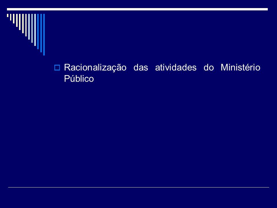 Racionalização das atividades do Ministério Público