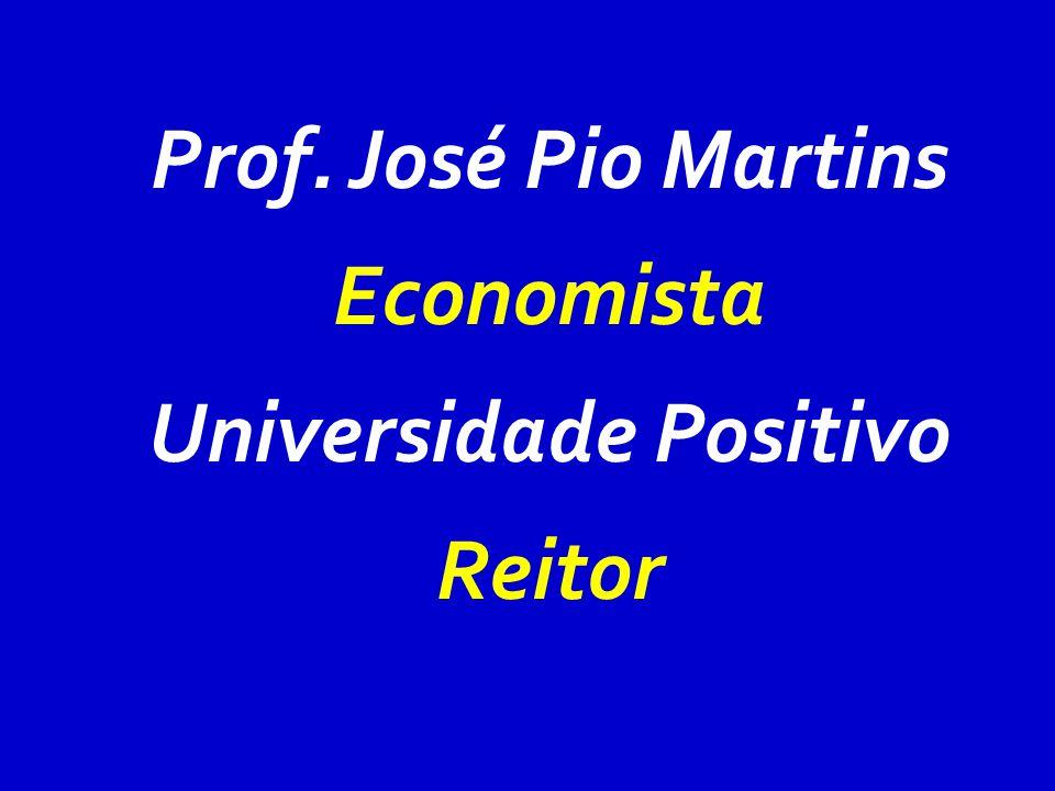 Prof. José Pio Martins Economista Universidade Positivo Reitor