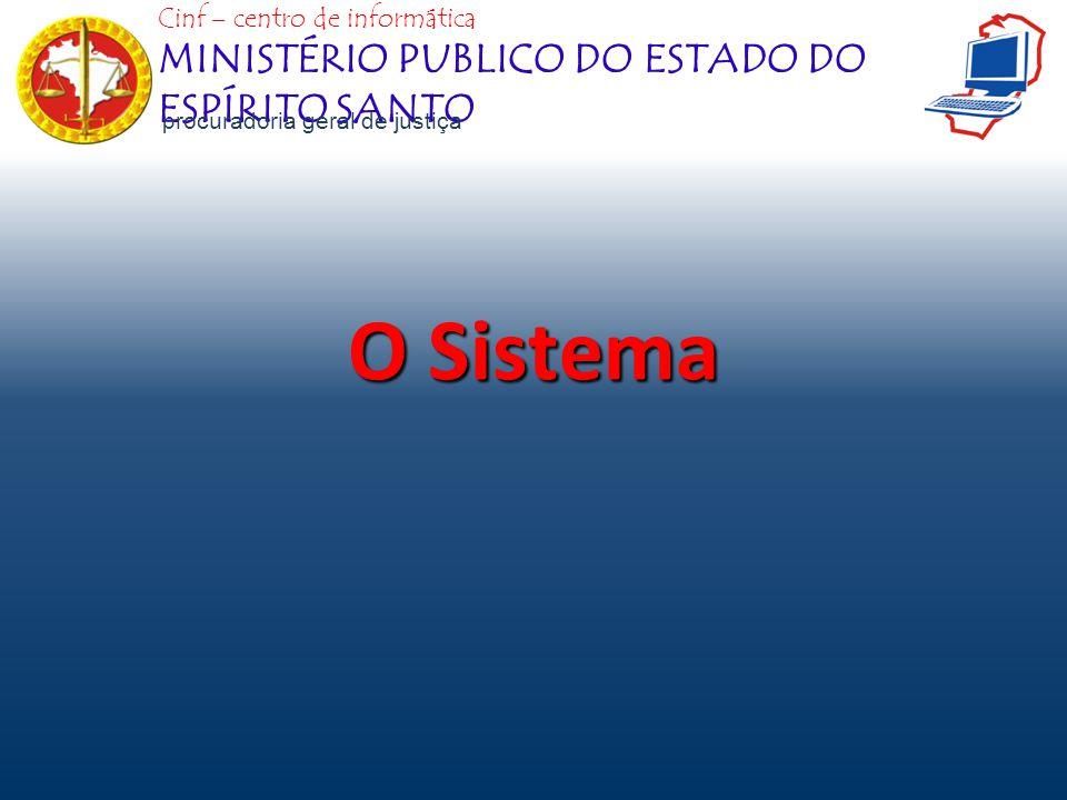 O Sistema Cinf – centro de informática MINISTÉRIO PUBLICO DO ESTADO DO ESPÍRITO SANTO procuradoria geral de justiça