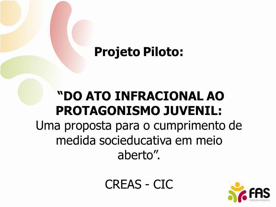 Projeto Piloto: DO ATO INFRACIONAL AO PROTAGONISMO JUVENIL: Uma proposta para o cumprimento de medida socieducativa em meio aberto. CREAS - CIC