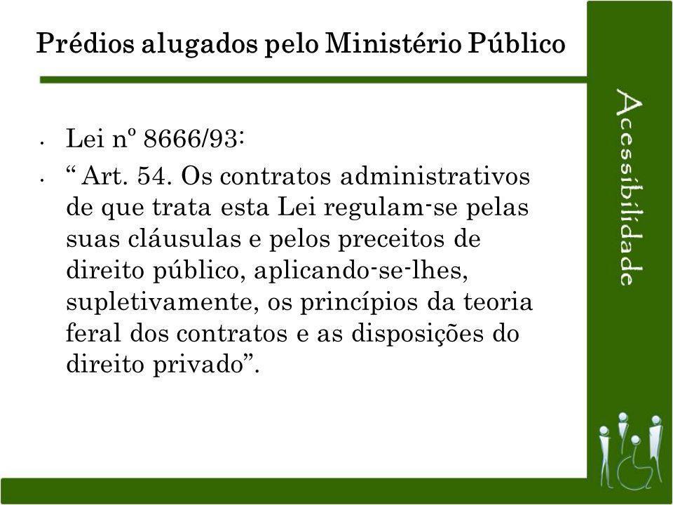 Lei nº 8666/93: Art. 54. Os contratos administrativos de que trata esta Lei regulam-se pelas suas cláusulas e pelos preceitos de direito público, apli