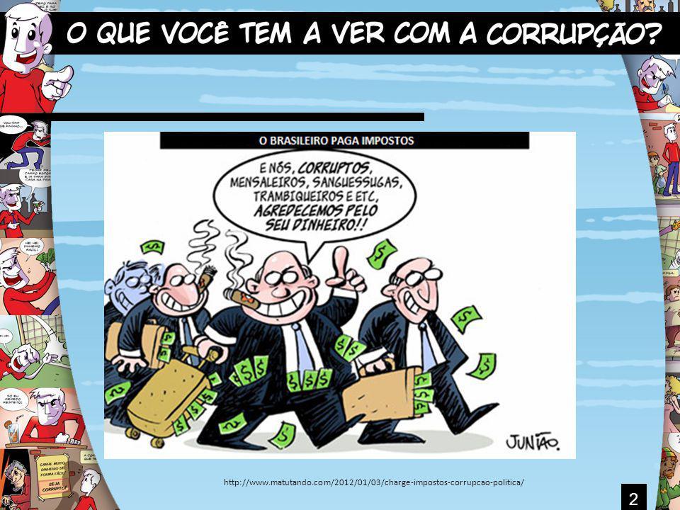 3 O QUE VOCÊ CONHECE SOBRE CORRUPÇÃO? JÁ PENSOU SOBRE ISTO?