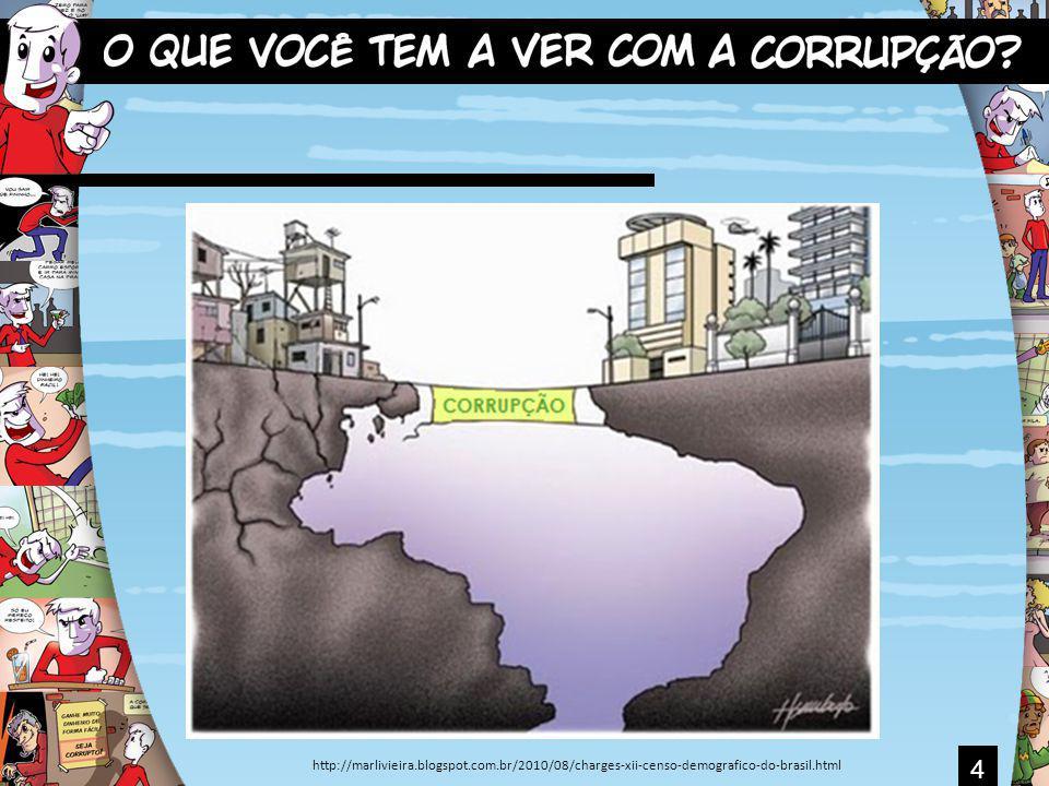 5 Corrupção É quando alguém é levado a agir de modo considerado errado pela sociedade em troca de recompensa.