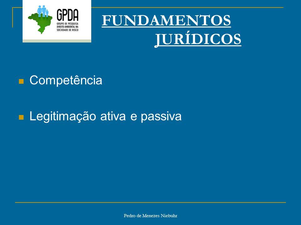 Pedro de Menezes Niebuhr FUNDAMENTOS JURÍDICOS Competência Legitimação ativa e passiva