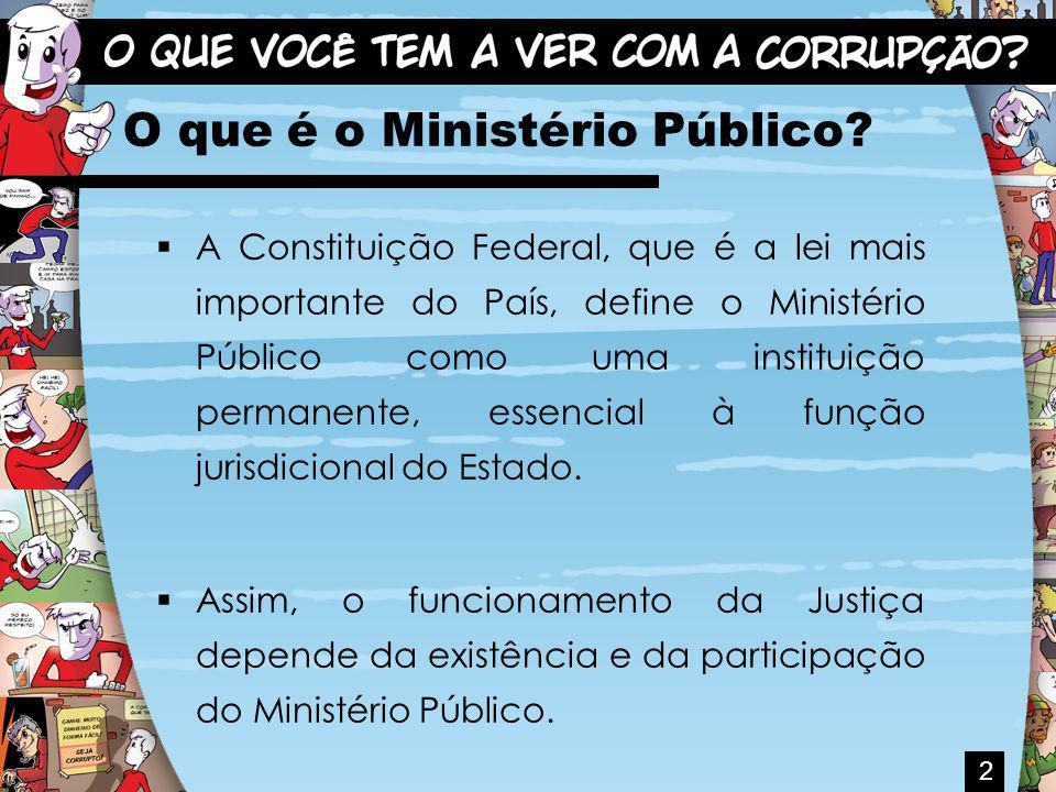 Quem compõe o Ministério Público.