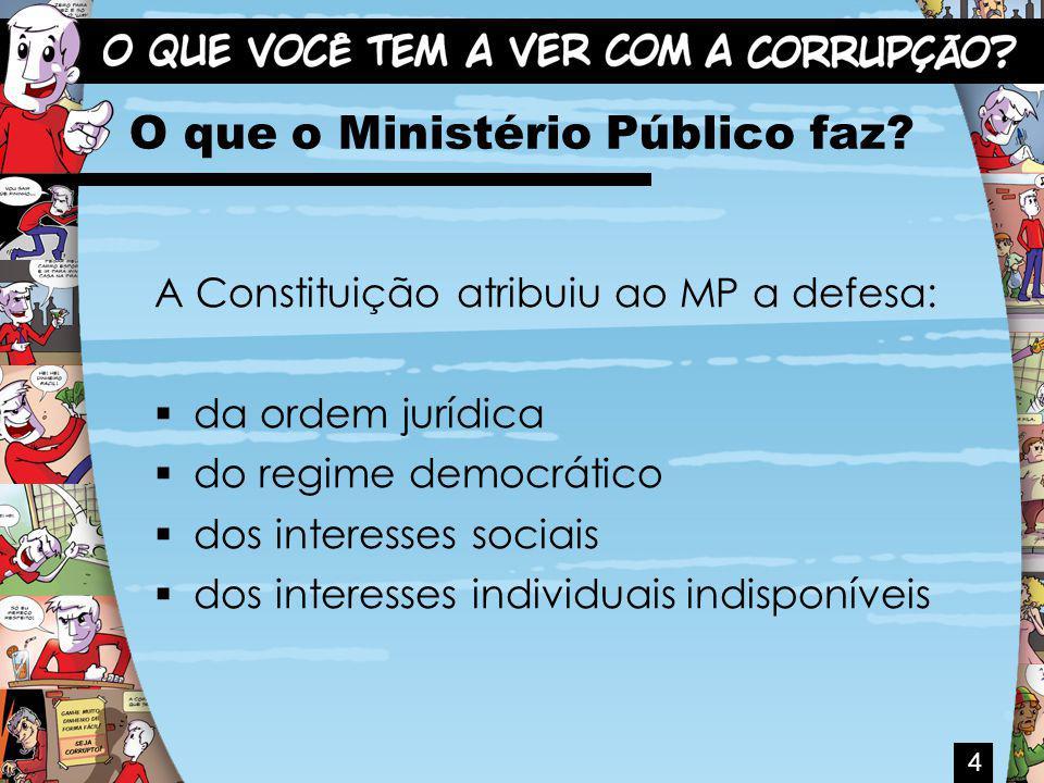 O que o Ministério Público faz.