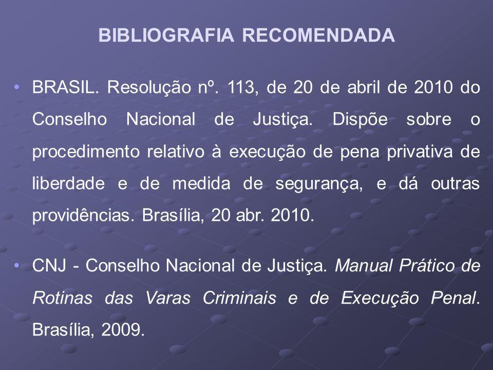 BRASIL.Resolução nº. 113, de 20 de abril de 2010 do Conselho Nacional de Justiça.