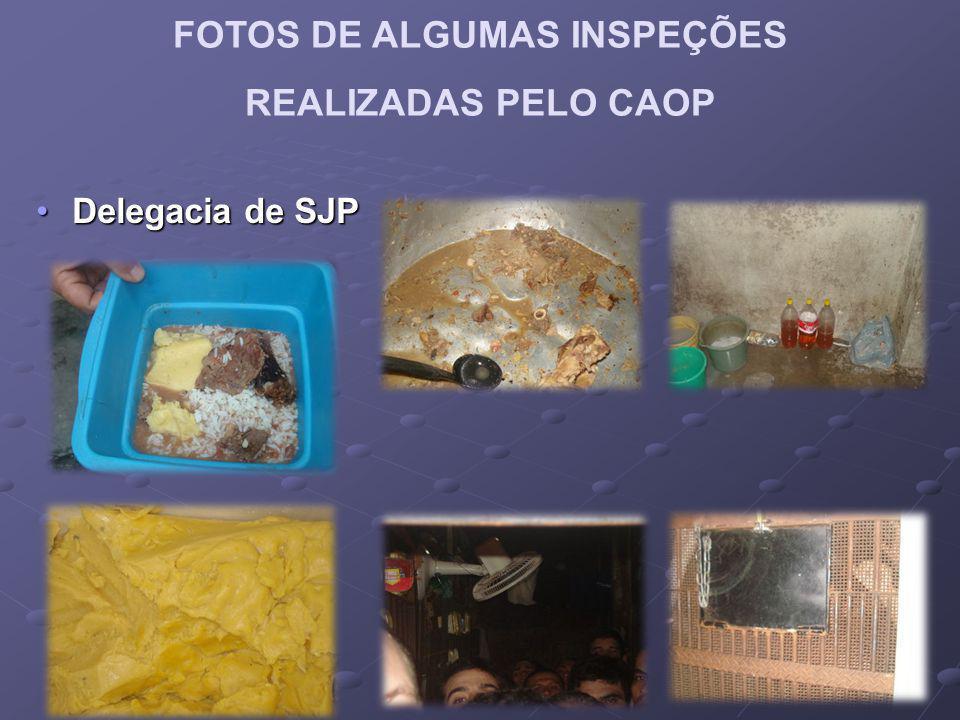 FOTOS DE ALGUMAS INSPEÇÕES REALIZADAS PELO CAOP Delegacia de SJPDelegacia de SJP