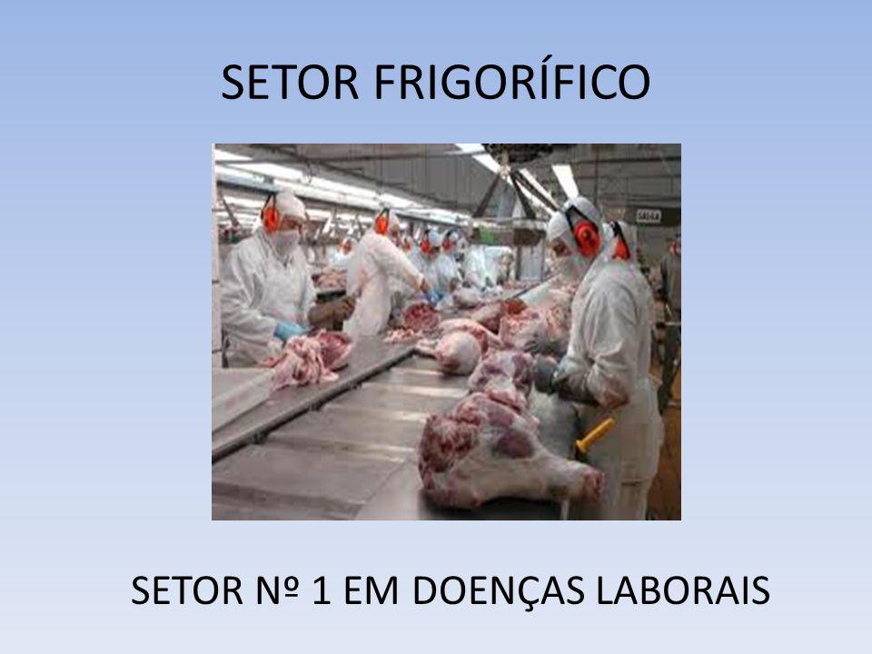 SETOR FRIGORÍFICO SETOR Nº 1 EM DOENÇAS LABORAIS