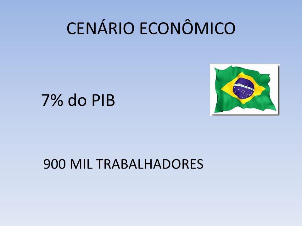 CENÁRIO ECONÔMICO 7% do PIB 900 MIL TRABALHADORES