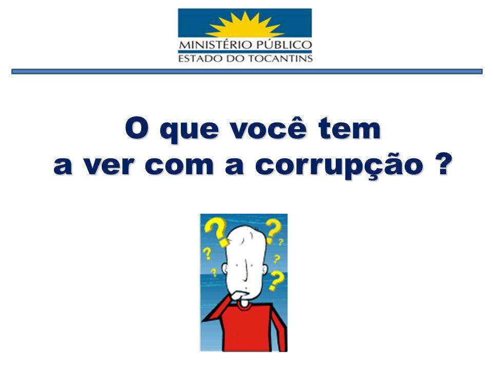 O que você tem a ver com a corrupção ?