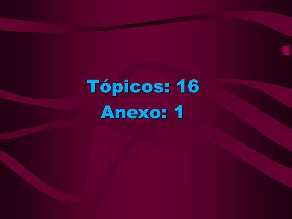 Tópicos: 16 Anexo: 1