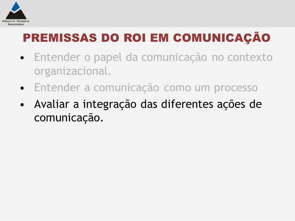 Entender o papel da comunicação no contexto organizacional. Entender a comunicação como um processo Avaliar a integração das diferentes ações de comun