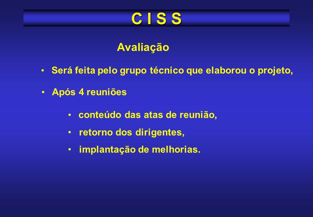 C I S S A DIMS, temporariamente, atuará também como órgão central, recebendo as atas de reuniões, avaliando a atuação de cada CISS, papel que será da