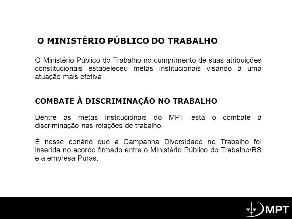 O Ministério Público do Trabalho no cumprimento de suas atribuições constitucionais estabeleceu metas institucionais visando a uma atuação mais efetiv