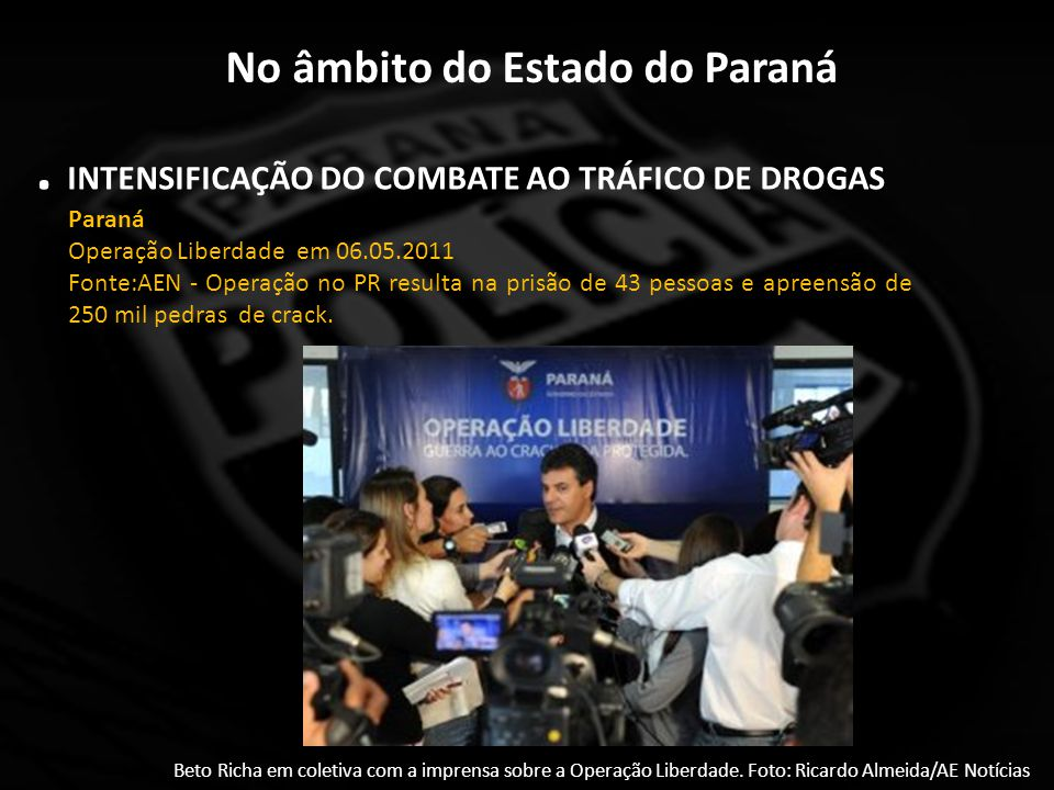 No âmbito do Estado do Paraná Programa de cooperação para auxílio às Unidades com maior demanda investigativa