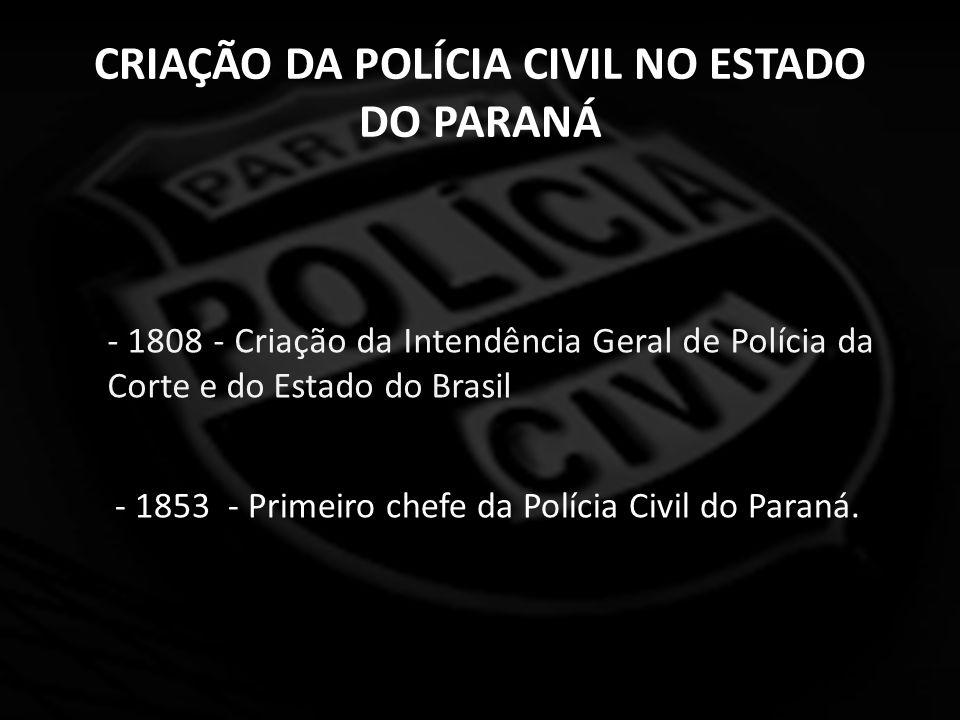 ATRIBUIÇÕES DA POLÍCIA CIVIL NO ESTADO DO PARANÁ Constituição Federal Art.