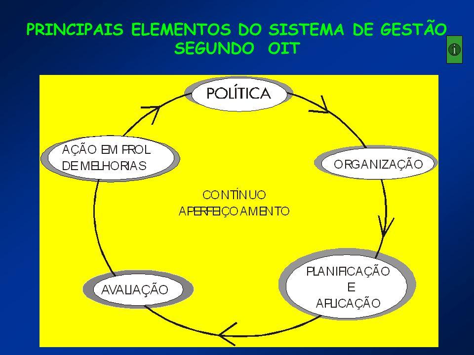 PRINCIPAIS ELEMENTOS DO SISTEMA DE GESTÃO SEGUNDO OIT