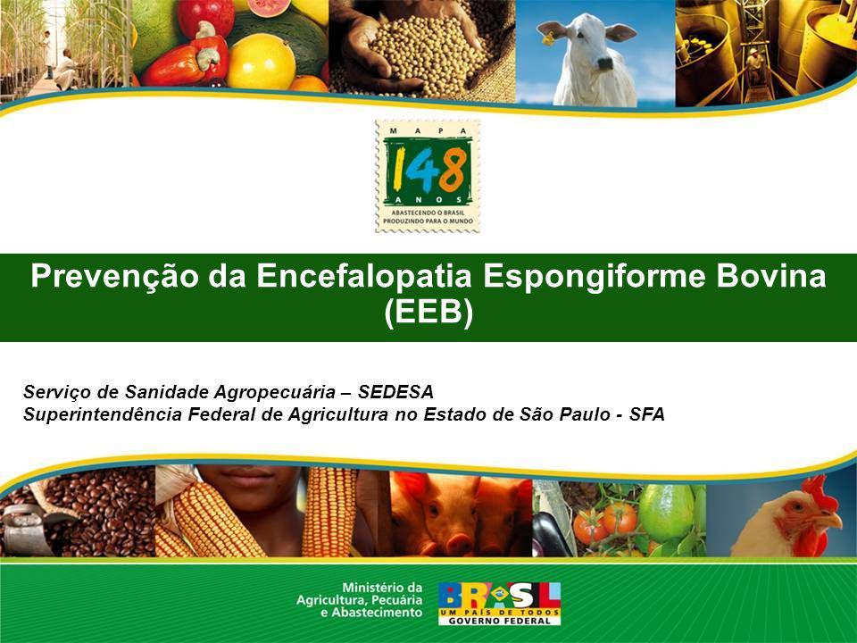 Prevenção da Encefalopatia Espongiforme Bovina (EEB) Serviço de Sanidade Agropecuária – SEDESA Superintendência Federal de Agricultura no Estado de Sã