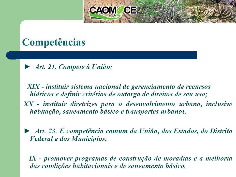 Competências Art. 21.
