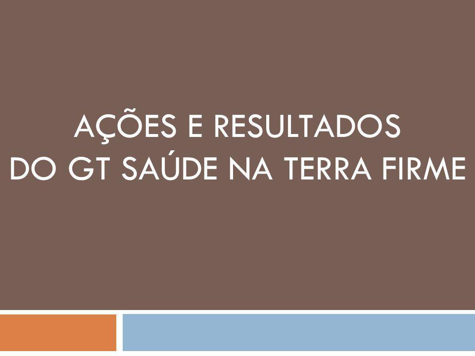 AÇÕES E RESULTADOS DO GT SAÚDE NA TERRA FIRME