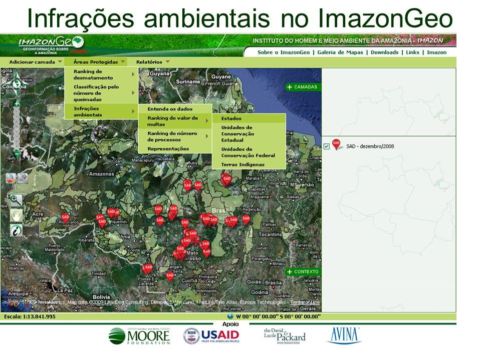 Infrações ambientais no ImazonGeo