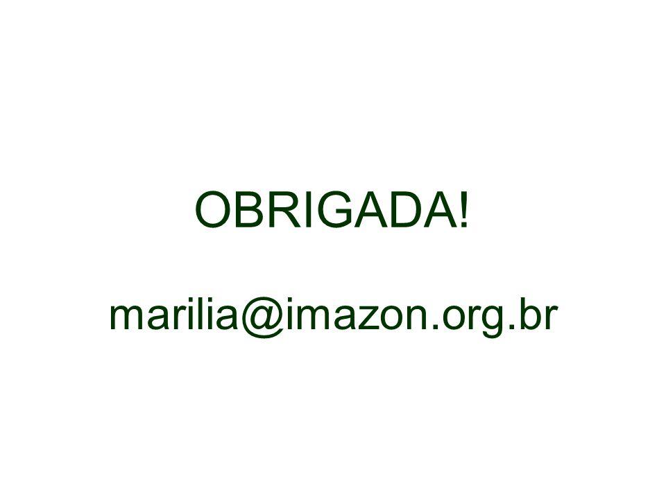OBRIGADA! marilia@imazon.org.br