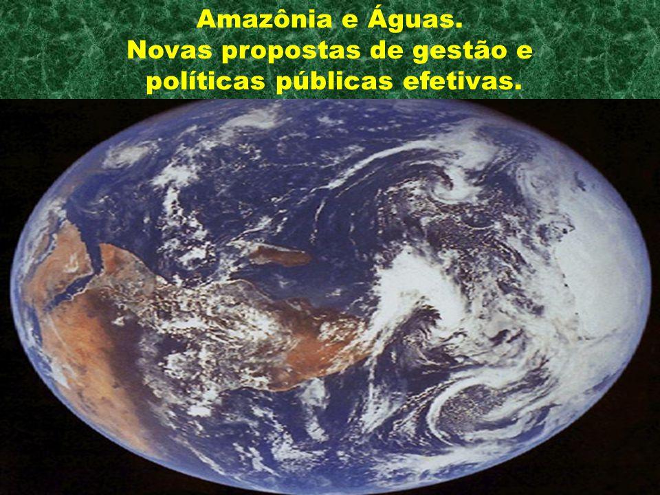 Amazônia e Águas. Novas propostas de gestão e políticas públicas efetivas.