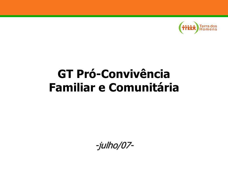 -julho/07- GT Pró-Convivência Familiar e Comunitária