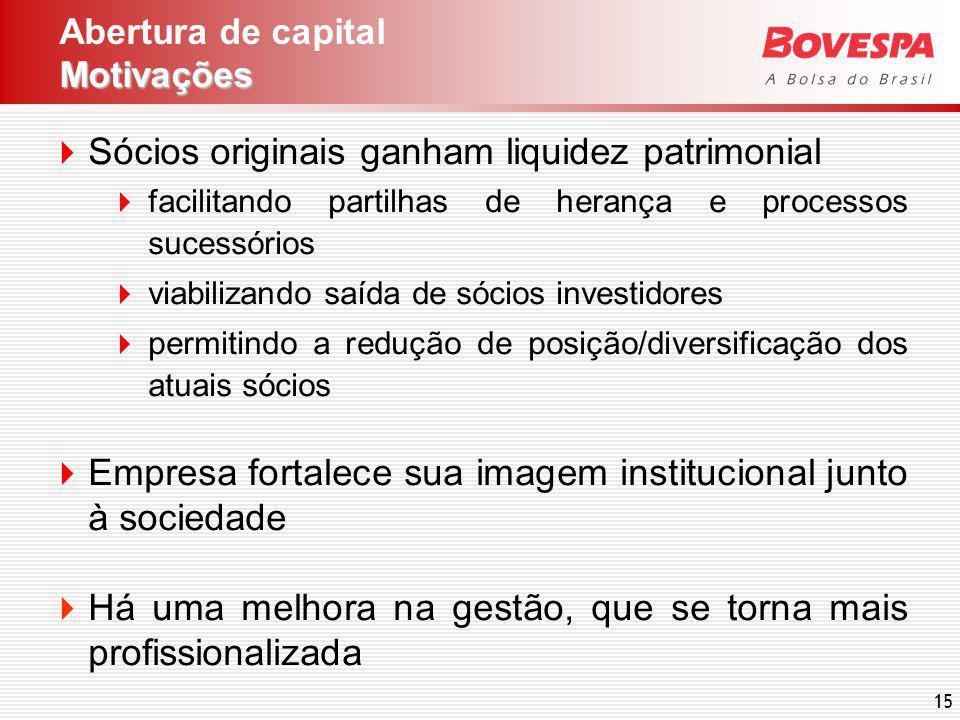 15 Sócios originais ganham liquidez patrimonial facilitando partilhas de herança e processos sucessórios viabilizando saída de sócios investidores per