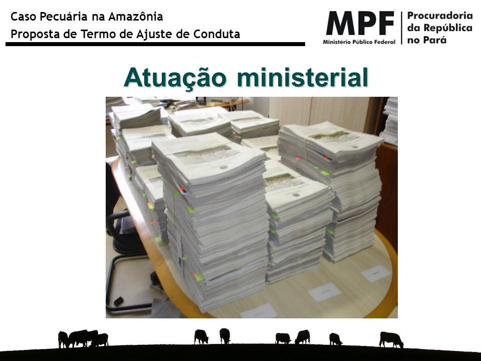 Caso Pecuária na Amazônia Proposta de Termo de Ajuste de Conduta Atuação ministerial