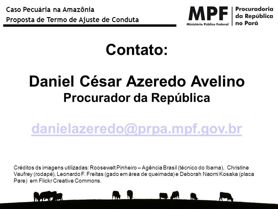 Caso Pecuária na Amazônia Proposta de Termo de Ajuste de Conduta Contato: Daniel César Azeredo Avelino Procurador da República danielazeredo@prpa.mpf.