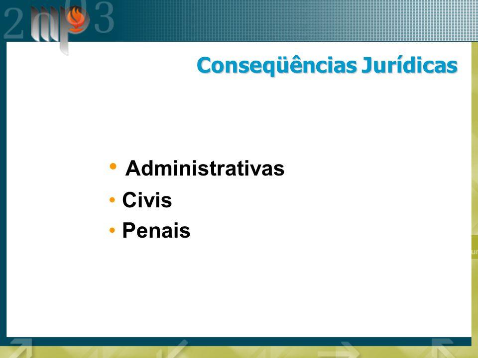 Conseqüências Jurídicas Administrativas Civis Penais