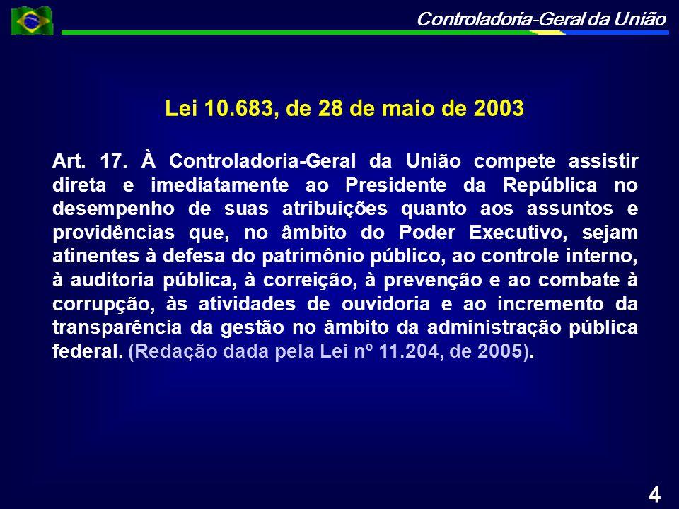 Controladoria-Geral da União Art.18.