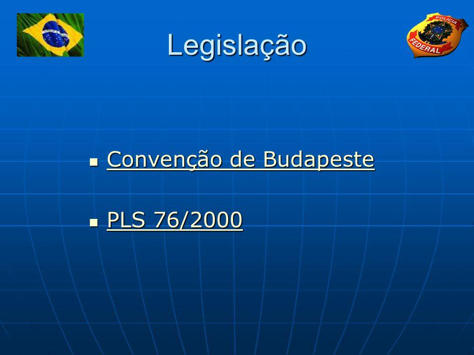Legislação Convenção de Budapeste Convenção de Budapeste Convenção de Budapeste Convenção de Budapeste PLS 76/2000 PLS 76/2000 PLS 76/2000 PLS 76/2000