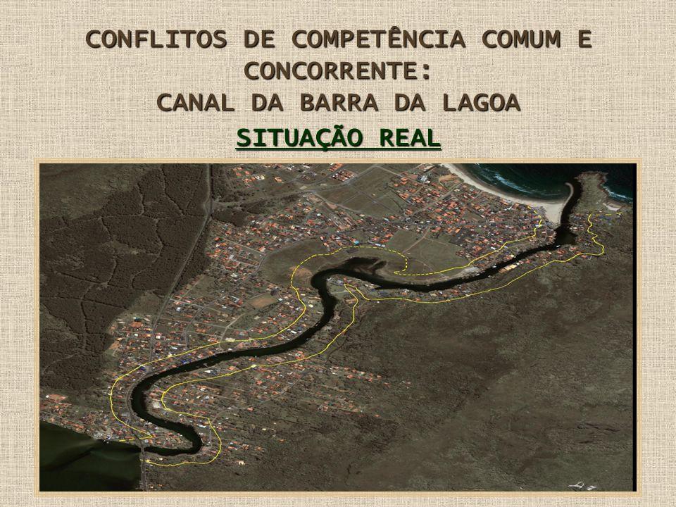 CONFLITOS DE COMPETÊNCIA COMUM E CONCORRENTE: CANAL DA BARRA DA LAGOA SITUAÇÃO REAL