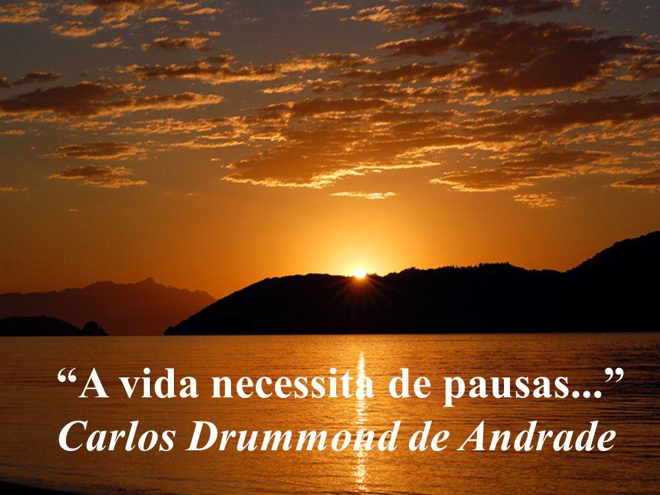 A vida necessita de pausas... Carlos Drummond de Andrade