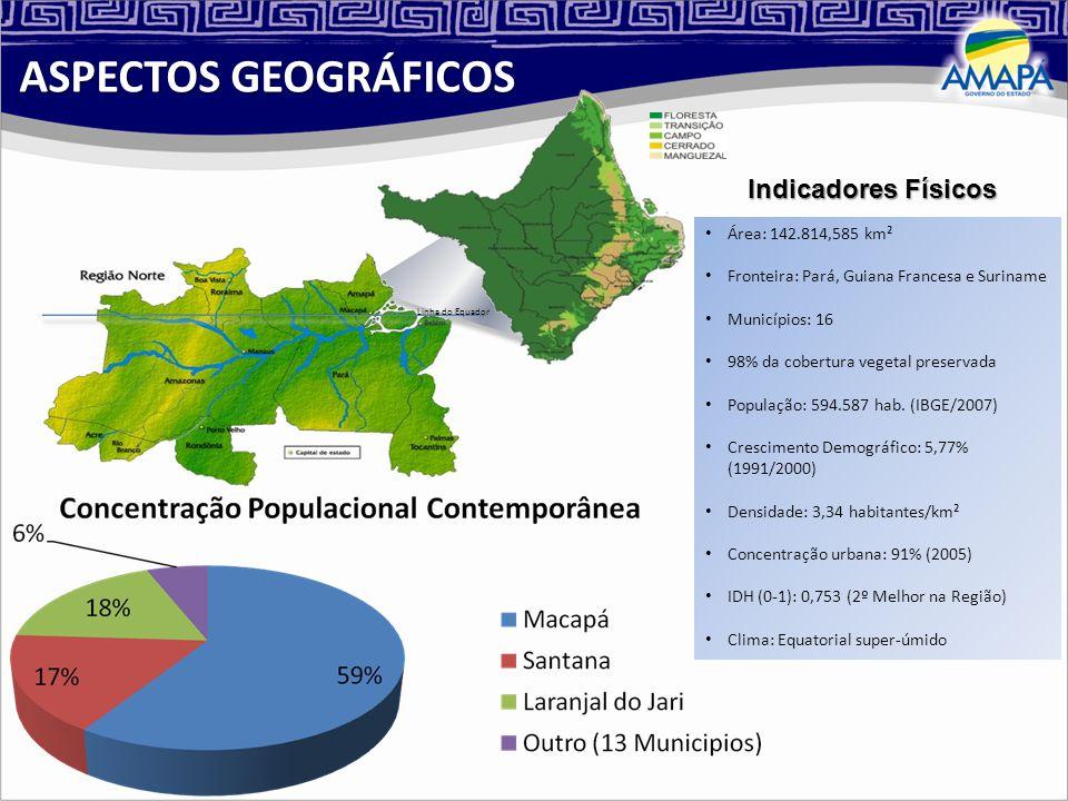 Área: 142.814,585 km² Fronteira: Pará, Guiana Francesa e Suriname Municípios: 16 98% da cobertura vegetal preservada População: 594.587 hab.