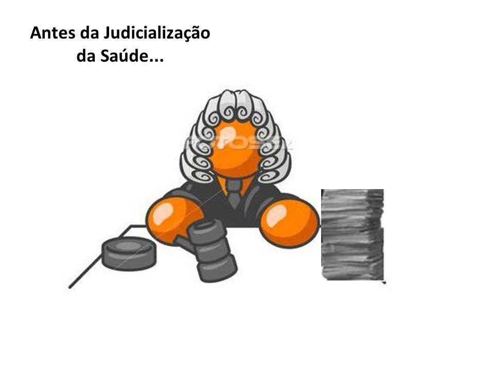 Antes da Judicialização da Saúde...