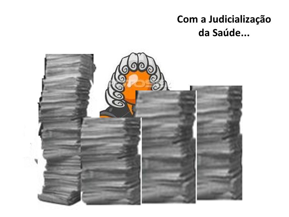 Com a Judicialização da Saúde...