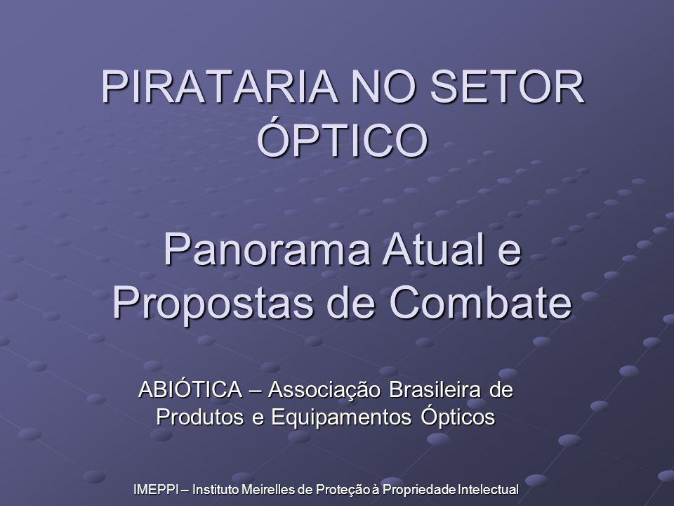 PIRATARIA NO SETOR ÓPTICO Panorama Atual e Propostas de Combate ABIÓTICA – Associação Brasileira de Produtos e Equipamentos Ópticos IMEPPI – Instituto