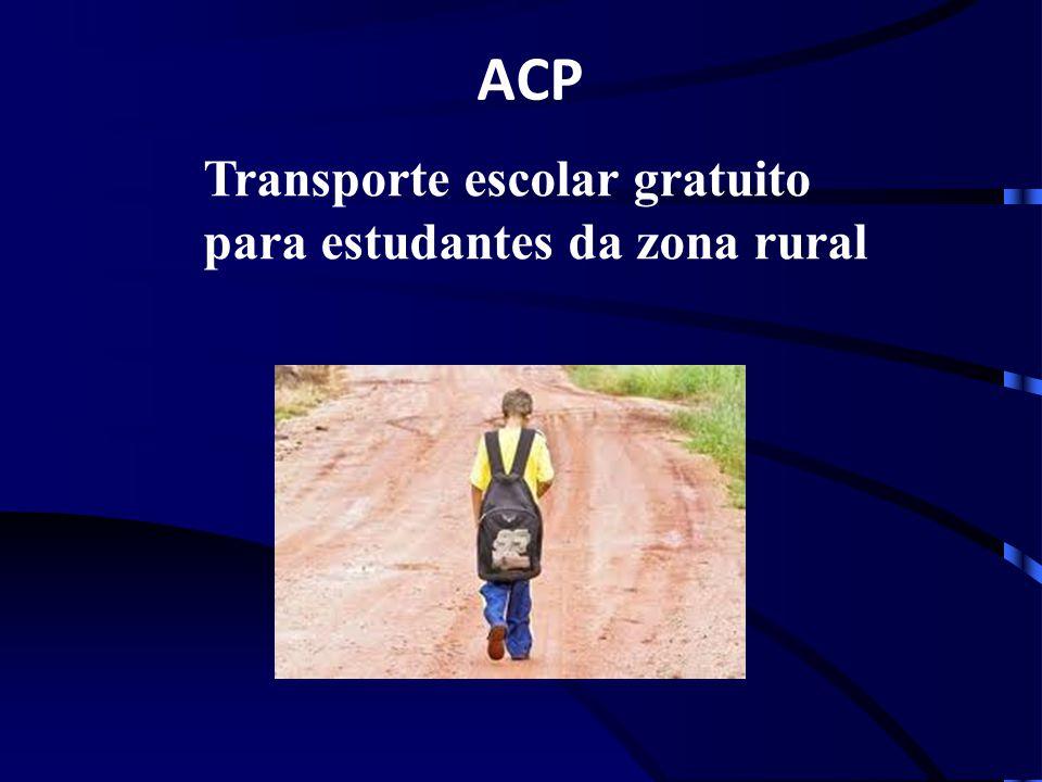 ACP Transporte escolar gratuito para estudantes da zona rural