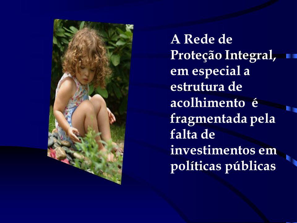 Ausência de Casa Lar para grupos de irmãos e ampliação de famílias acolhedoras; ( art.