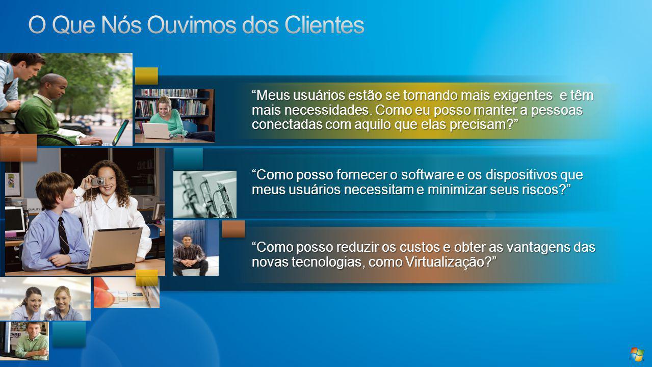 Como posso reduzir os custos e obter as vantagens das novas tecnologias, como Virtualização.